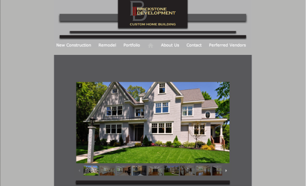 Web Site Design: Brickstone Development