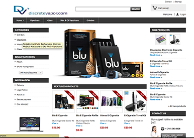 PrestaShop E-Commerce Site Screen Shot
