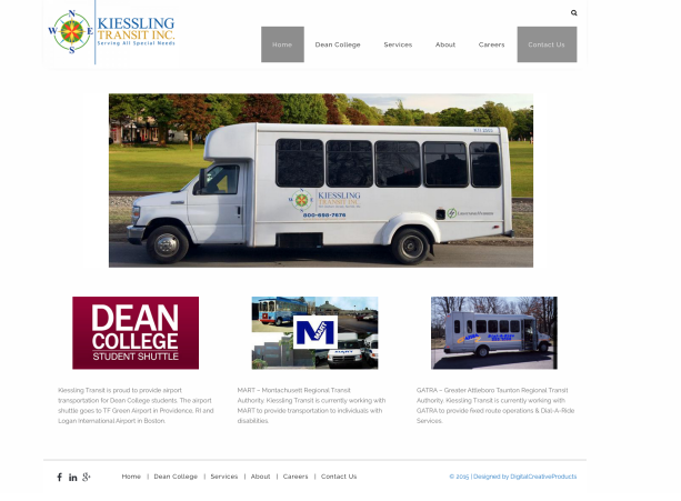 Kiessling Transit Inc. Website