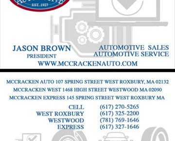 McCracken Automotive Business Card